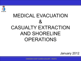 5.04 Medical Evacuation & 5.07 Casualty Extraction and Shoreline