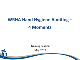 WRHA Hand Hygiene Monitoring Project