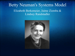 Betty Neuman`s Systems Model