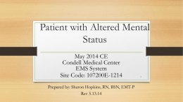 Patient with Altered Mental Status