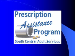 Presentation - South Central Adult Services