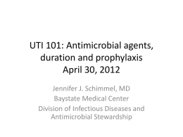 UTI 101 - Massachusetts Coalition for the Prevention of Medical Errors