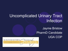 Uncomplicated Urinary Tract Infection