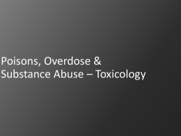 toxicology and substance abuse