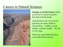 Careers in Geo and Bio Sciences