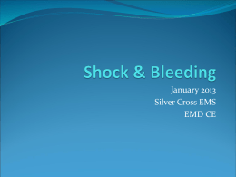 Shock - Silver Cross Emergency Medical Services System