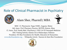 Role of Clinical Pharmacist in Mental Health