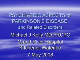 Parkinson's Disease: Epidemiology, Etiology, and Pathogenesis