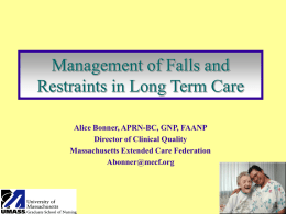 Evaluation and Management of Falls in the Elderly