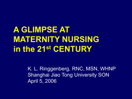 MATERNITY NURSING in the 21st CENTURY