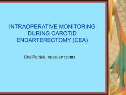 CAROTID ENDARECTOMY - ISETT- Chapter of ASET