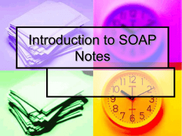 Introduction to SOAP Notes