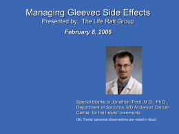Managing Gleevec Side Effects