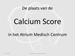 What calcium score is typical for a person my