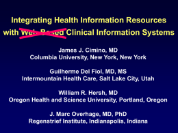 Use of Online Resources While Using a Clinical Information