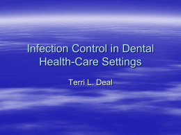 Infection Control in Dental Health