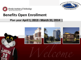Open Enrollment - Florida Institute of Technology