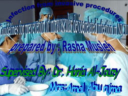 Infection from Invasive procedures