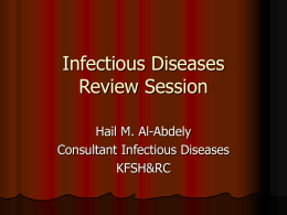 Infectious Diseases Review Session