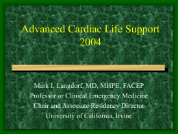 Advanced Cardiac Life Support 2000