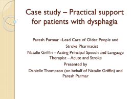 Case study – Practical support for patients with dysphagia