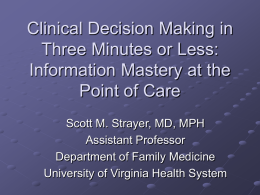 What is Clinical Decision Support?
