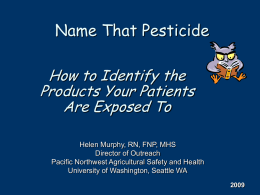 Name That Pesticide - Home | Migrant Clinicians Network