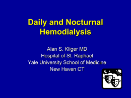 Frequent Hemodialysis Network: NIH/CMS Daily and Nocturnal