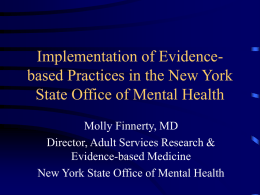Implementation of Evidence-based Practices in the New York