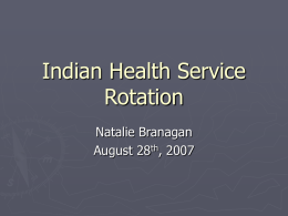 Indian Health Service Rotation