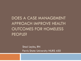 Does a case management approach improve health status for