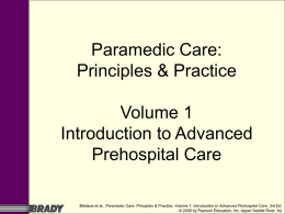 Paramedic Care: Principles & Practice Volume 1
