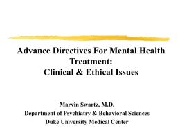 Advance Instructions For Mental Health Treatment
