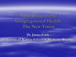 Multi-Dimensional Congregational Health: The New Vision