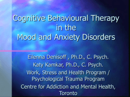 Pearls of Cognitive Behavioural Therapy in the Mood and