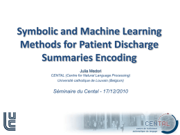 Symbolic Classification Methods for Patient Discharge