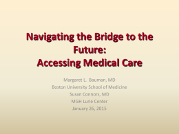 Navigating the Bridge to the Future: Transition and