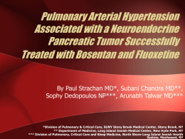 Pulmonary Arterial Hypertension Associated with a