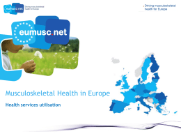WP4 - Musculoskeletal health status in Europe