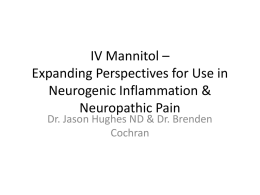 IV Mannitol – Expanding Perspectives for Use in Neurogenic