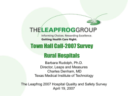 Town Hall Call-2007 Survey