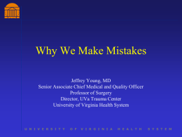 Why We Make Mistakes - University of Kentucky