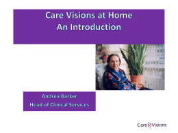 Care Visions at Home - Integrated Care Council