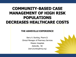 THE ASHEVILLE PROJECT - Canadian Healthcare Network