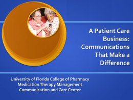 University of Florida Medication Therapy Management