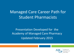 Managed Care Career Path for Students
