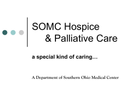 SOMC Hospice - Scioto County Medical Society