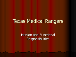 Texas Medical Rangers - Houston Community College System