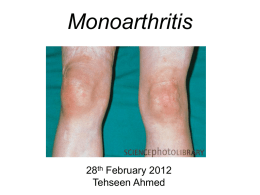 Monoarthritis - Bath Institute for Rheumatic Diseases