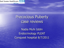 Precocious Puberty case reviews